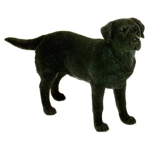 Leonardo Collection Labrador Ornament Hund, Stein, Schwarz -