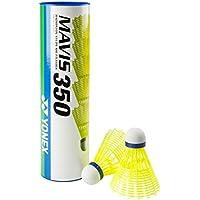 Yonex Mavis 350 6pieza(s) Volante sintético Amarillo - Volantes de badminton (Volante sintético, Amarillo, 6 pieza(s), Tubo)