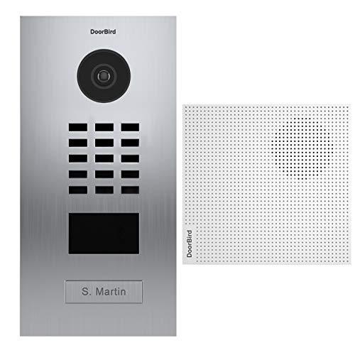 Doorbird - Kit D2101V + A1061W - IP-Video-Türsprechanlage RFID-Ausweisleser + Türklingel