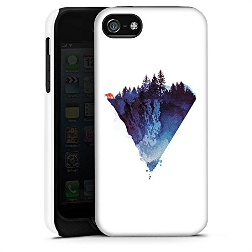 Apple iPhone X Silikon Hülle Case Schutzhülle Dreieck Natur Kunst Tough Case matt