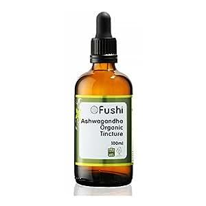 Fushi Ashwagandha Organic Tincture 100ml, 1:2@25%, Certified Organic Biodynamic Harvested