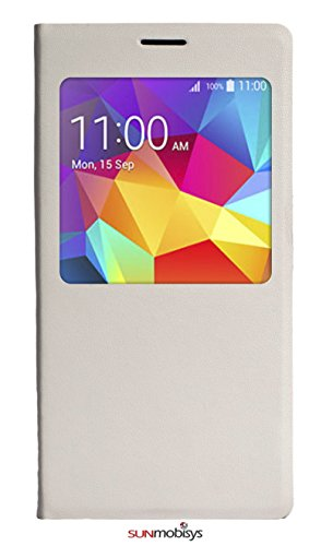 Sun Mobisys™;Samsung Galaxy S5 G900 Flip Cover; Flip Cover for Samsung Galaxy S5 G900 WHITE  available at amazon for Rs.249