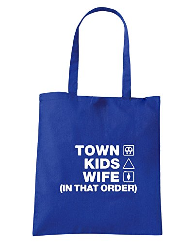 T-Shirtshock - Borsa Shopping WC1261 huddersfield-town-kids-wife-order-tshirt design Blu Royal
