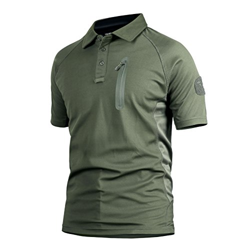 MAGCOMSEN Herren Poloshirt armee-grün
