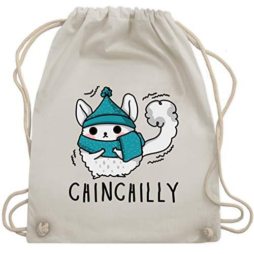 Sonstige Tiere - Chinchilly - Unisize - Naturweiß - WM110 - Turnbeutel & Gym Bag -