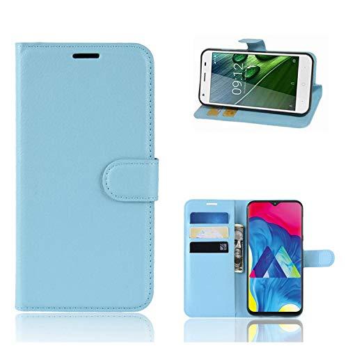 Ronsem Xiaomi Mi8 Youth / Mi8 Lite Hülle PU Leder Wallet Schutzhülle mit Kartenschlitz Flip Handyhülle für Xiaomi Mi8 Youth / Mi8 Lite - Blau