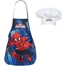 Spiderman - Set de cocina infantil, delantal y gorro cocinero de Spiderman
