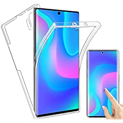 Coque Samsung Galaxy Note 10 Plus 2 en 1 Hybrid 360° Protection Complète Transparente Silicone TPU Gel + PC Rigide clear [Antichoc] Housse Bumper Soft Case Cover pour Galaxy Note 10+ / Note 10 Pro