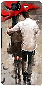 PrintVisa Love Rains Couples Case Cover for Micromax Canvas Knight A350