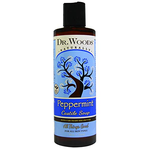 Dr. Woods Shea Vision Pure Castile Soap Peppemint with Organic Shea Butter -- 8 fl oz by Dr. Woods