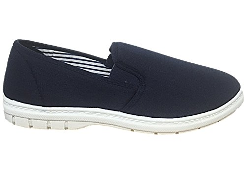 Mens Shoe Tree BRETT Canvas Slip On Wider Fit Plimsoll Pump Trainer...