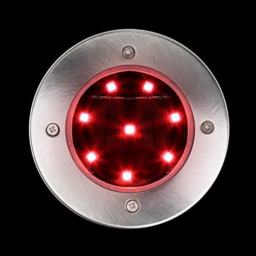 TianranRT Solar LED Outdoor Weg Licht Spot Lampe Hof Garten Rasen Landschaft Wasserdicht (Rot)