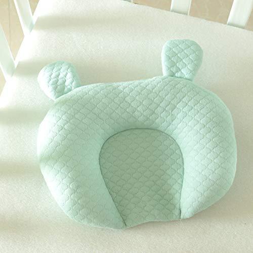 Babykissen Multifunktionale Kinderkissen Vorsorge Der Plagiozephalie Kinderkissen Waschbare Babykopfkissen Vorsorge Der Plagiozephalie Baby Pillow Memory Schaum Lagerungskissen(Grün -