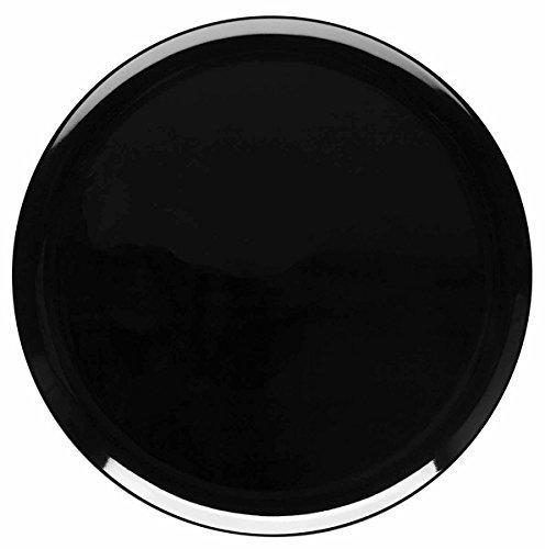 De-Lite Acrylic Quarter Dinner Plate, Round, 7.5 Inches, MIDNIGHT BLACK, Set of 6