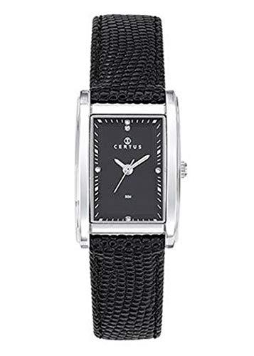 Certus–Reloj Mujer–h644m430–Pulsera Cuero Negro–Caja Rectangular–Reloj Color Negro