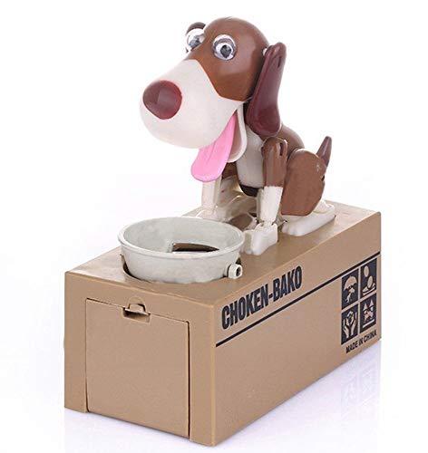 MY WAABO Elektronische Spardose Verrückter Hund Schwarz Weiß 18 cm Groß - Sparschwein Geschenk für Kind Geld Münze Fun Lustig Wackelt Box (Jack Russel)