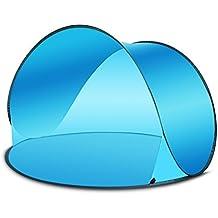 Blueidea® Outdoor Automatico Istantaneo UltraLeggero Portatile Parasole Beach Pop-Up Tenda Camper Shelter Sun Shelter / Vento UV Tabernacolo (Cielo)