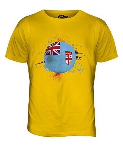 CandyMix Fiji Calcio T-Shirt da Uomo Maglietta Giallo Scuro