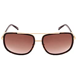 Tommy Hilfiger Gradient Rectangular Mens Sunglasses - (7893 Havbr-34 C4 59 S|59|Brown Color)