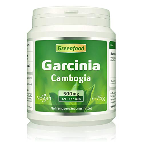 Garcinia Cambogia pur, 500mg, hochdosierter Extrakt (60% HCA), 120 Kapseln, vegan - OHNE Zusätze. Ohne Gentechnik. Glucosefrei. Lactosefrei. Vegan. - 500 Mg 60 Vegi-kapseln