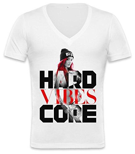 Hardcore Vibes Unisex Deep V-neck T-shirt XX-Large
