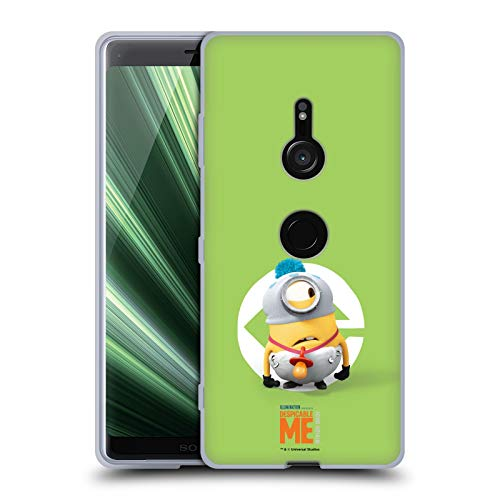 Head Case Designs Offizielle Despicable Me Stuart Baby Kostuem Minions Soft Gel Huelle kompatibel mit Sony Xperia XZ3