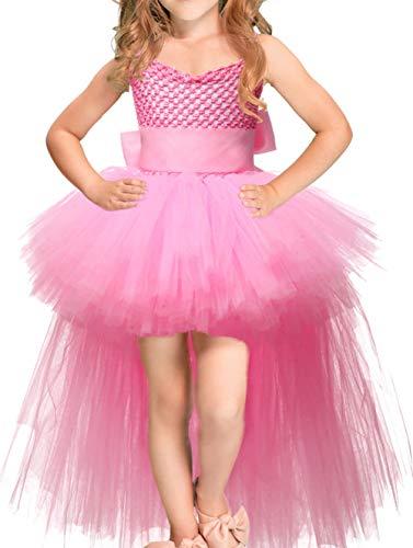 Scothen Mädchen Prinzessin Tüll Spitzen Prinzessin Kleid Mädchen Abendkleid für Hochzeit Brautjungfer Blumenmädchen Geburtstag Party Cocktail Dance Ballkleid Kleid Festlich Blumenmädchenkleid