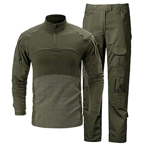 JUNSHIFU Taktische Uniformen Männer Militärkleidung Camouflage Combat Special Force Anzüge Army Green XXXL -