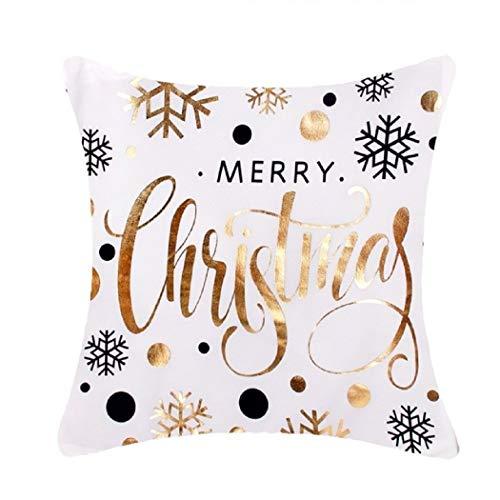 HOUSE CLOUD Weihnachten Baumwolle dekorativ Stickerei Kissen Kissen Kissen Kreativ, Baumwolle 09, Series, 45 x 45 cm