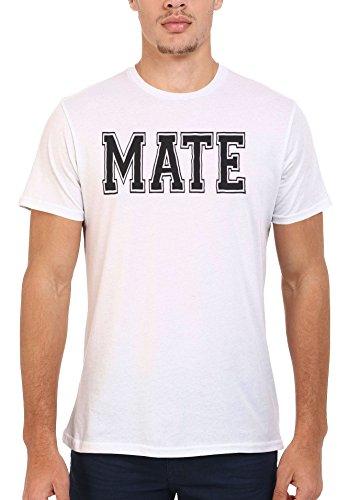 Mate Friend Dude Forever Cool Men Women Damen Herren Unisex Top T Shirt .Weiß