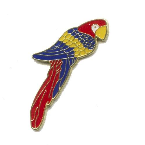 Pappagallo di Cacatua Ara Parrot Badge Uccelli Pappagalli in metallo Button Pin Spilla 0585 - Button Uccello