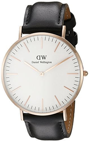 Daniel-Wellington-Mens-Quartz-Watch-Classic-Sheffield-Rose-with-Black-Leather-Strap-0107DW
