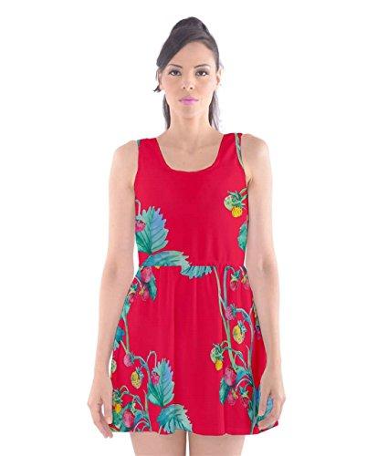 CowCow Damen Kleid Schwarz Schwarz Red Hot