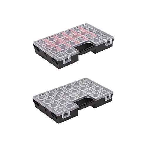 DUO Sortimentkästen Kleinteilemagazine Organizer doppelseitig 270x180x45 Fächer soppelseitig