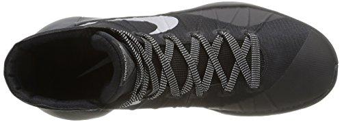 Nike Hyperdunk 2015, - homme Multicolore - Negro / Plateado (Black / Metallic Silver)