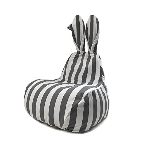 Rabito Bean Bag Chair Limited Edition (Small, Gray Stripes)