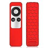 Fintie Remote Hülle für Apple TV 2/3 Generation Fernbedienung - [Bienenstock Serie] Leichte Rutschfeste Stoßfeste Silikon Schutzhülle Tasche Case Cover, Rot