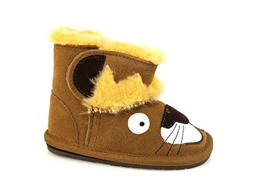 EMU Leo Lion Walker Boots Child Leather Wool Chestnut Brown B11433 Winter 2018