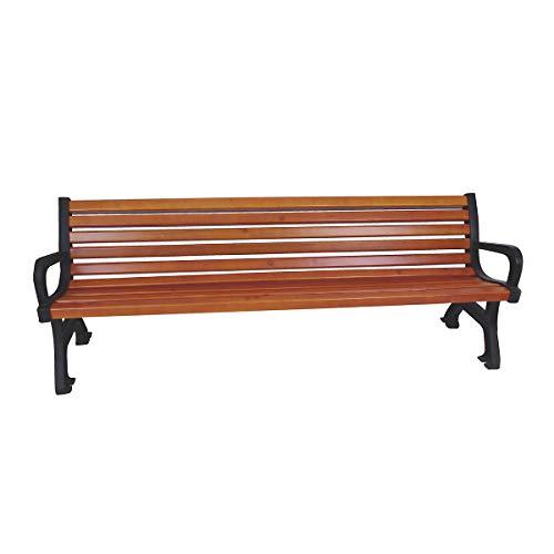 Sitzbank - Länge 2000 mm, Gewicht 64 kg, Holzlasurfarbton Kiefer - Holzbänke Parkbänke Ruhebänke...