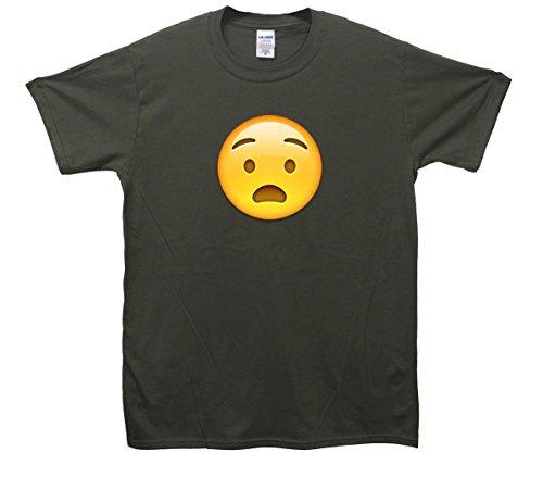 Anguished Face Emoji T-Shirt Khaki