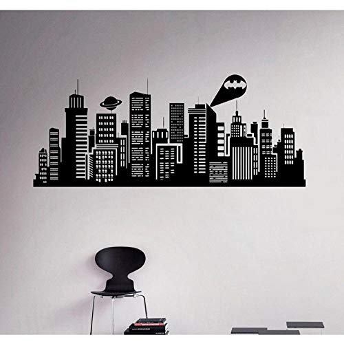 ham City Vinyl wandaufkleber Batman City Comic Home Interior Home Wanddekoration Wandtattoo ()