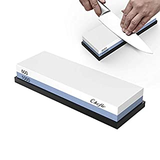 Sharpening Stone, Whetstone Premium Waterstone Professional Double-Sided Knife Sharpening Stone Set by Chefic, 600/1000 Grit, Safe Holder Silicone Base Included