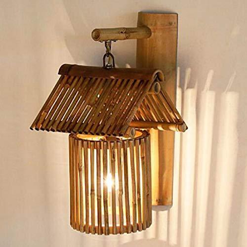CJSHV applique murale bambou antique mur lampe chambre lampe de chevet, la résidence creative bar lampe,b
