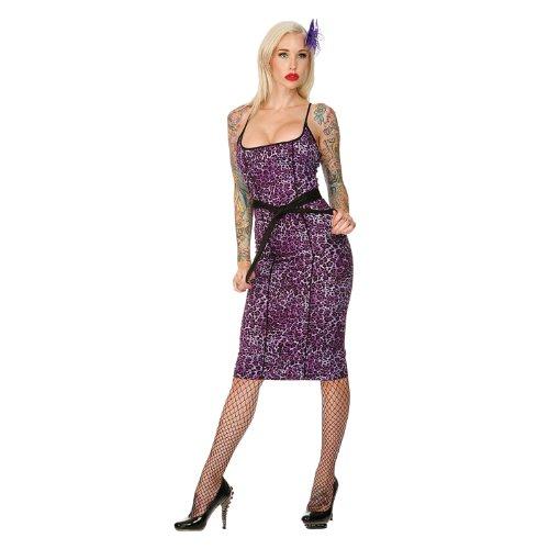 Jawbreaker Kleid LEOPARD DRESS DRA2107 purple S Wild Flower Dress