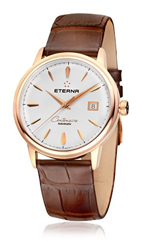 Eterna Men's Heritage Centenaire 40mm Brown Alligator Leather Band Automatic Analog Watch 2960-69-11-1272