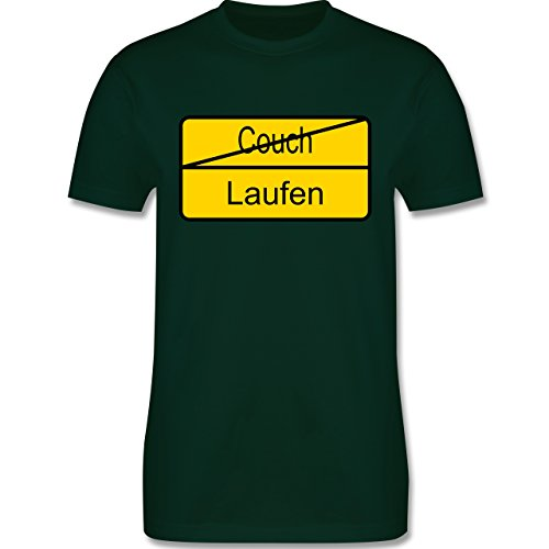 Laufsport - Laufen - Herren Premium T-Shirt Dunkelgrün