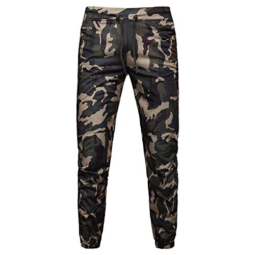 Beonzale Sommer Mode Männer Sommer Mens Casual Joggers Camouflage Pocket Drawstring Camo Pants Hose Jogginghose Trainingsanzug -