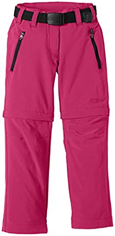 CMP Girl's Zip-Off Trousers Pink Scarlet Size:11 years