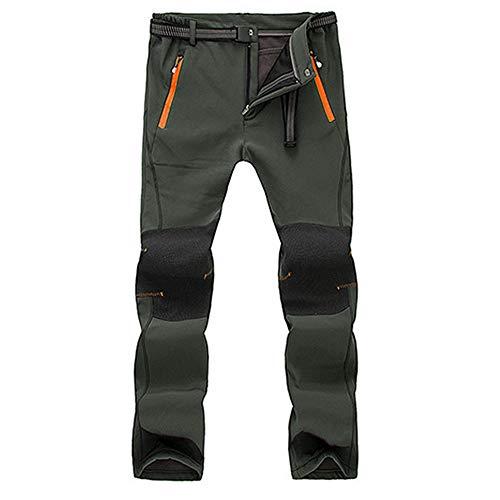 VPASS Pantalones para Hombre,Pantalones de Trekking Softshell...