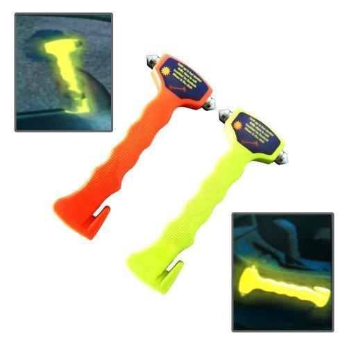 2 x leuchtende Notfallhammer Notfall Hammer mit Gurtschneider Nothammer Auto